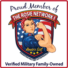 Logo of The Rosie Network. - Building the next generation of military entrepreneurs. JL Administrative Serivices LLC is a member of the Rosie Network